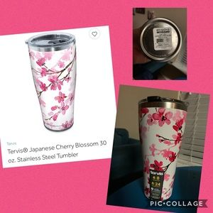 Japanese Cherry Blossom 30oz Tervis with Lid NWT